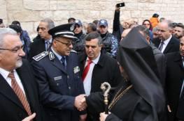 بيت لحم: الشرطة تؤمن و تشارك بإستقبال بطريرك طائفة الارمن