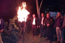 """جنين: """"فتح"""" تفتتح حديقة شهداء كفيرت وتضيئ شعلة الإنطلاقة"""