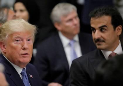 ترامب لأمير قطر: الحمد لله تم توسيع قاعدة العديد الجوية بأموالكم