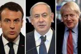 """قادة 4 دول أوروبية يحذّرون نتنياهو من الضم: """"وصفة لزعزعة استقرار الشرق الاوسط"""""""