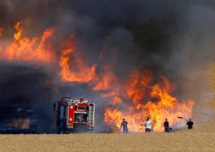 اندلاع حريق في اشكول بفعل بالونات حارقة