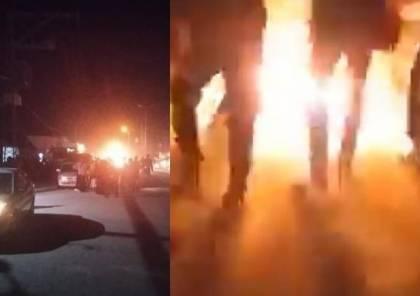 شاهد الفيديو : شاب فلسطيني يحرق نفسه في خانيونس جنوب قطاع غزة