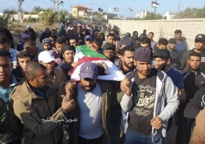 غزة: تشييع جثمان الشهيد السواركة بدير البلح وسط القطاع