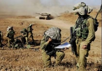 """جيش الإحتلال يجري تدريبات بمنطقة """"اوفكيم"""" بالجنوب"""