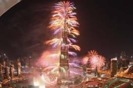 احتفالات ليلة رأس السنة الميلادية الجديدة 2021 في برج خليفة بدبي (شاهد)