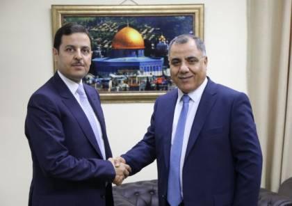 ملحم يستقبل السفير الأردني