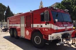 بيت لحم تتسلم سيارة إطفاء خاصة بحرائق الغابات
