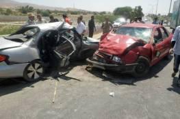 مصرع شخص وإصابة 196 آخرين بحوادث سير بالضفة الغربية
