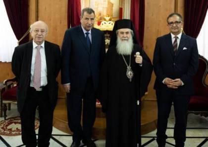 البطريرك ثيوفيلوس الثالث يستقبل اللجنة الرئاسية لشؤون الكنائس
