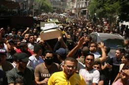 اّلاف المواطنين يشيعون جثامين شهداء سرايا القدس في غزة
