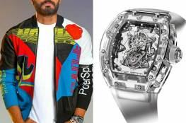 تعرّف على سعر ساعة (تامر حسني) الفاخرة