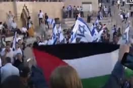 فيديو: اعتقال مواطنة رفعت علم فلسطين بقلب مسيرة المستوطنين في القدس