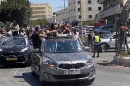 بالفيديو: احتفالات بنتائج التوجيهي في رام الله