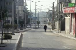 صور: سريان منع حركة المركبات وتعطيل المؤسسات لمواجهة كورونا في غزة