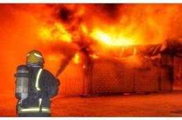 إخماد حريق قرب بلدة الجلمة