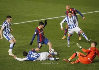 فيديو.. برشلونة يتأهل لنهائي السوبر بعد فوزه على سوسيداد بركلات الترجيح