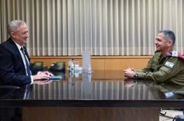 غانتس يمدد ولاية رئيس اركان الجيش حتى عام 2023