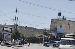 شرطة الاحتلال تحرر مخالفات مرور في حوسان