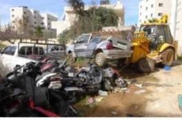 إتلاف 52 مركبة غير قانونية والقبض على 4 مطلوبين في بلدة قصرة جنوب نابلس