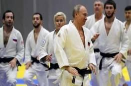 بالفيديو... الرئيس الروسي يتعرض للإصابة في تدريبات الجودو