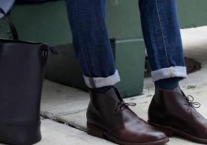 """أحذية """"تشوكا"""" من جلد الغزال الفاخر"""