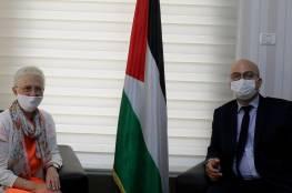 الهدمي يبحث مع القنصل البلجيكي المشاريع البلجيكية والأوضاع السياسية في القدس