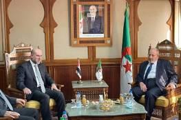 الهباش يبحث مع رئيس المجلس الإسلامي الأعلى في الجزائر دعم صمود القدس