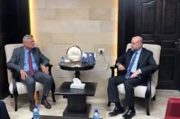 الهباش يستقبل سفير المانيا الإتحادية لدى دولة فلسطين