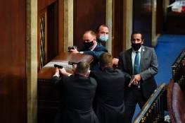 صور وفيديو.. فوضى عارمة في الكونغرس الأمريكي بعد اقتحامه من قبل مؤيدي ترامب