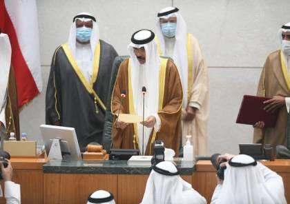 أمير الكويت الجديد يبكي في أول كلمة له بعد أداء اليمين ... فيديو