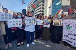 وقفة تضامنية مع الأسرى المضربين عن الطعام بنابلس