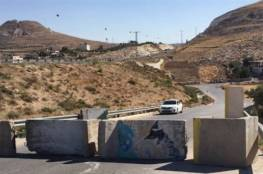 الاحتلال يغلق المدخل الشمالي لمدينة البيرة