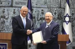 بعد حصوله على توصية 61 نائبا.. الرئيس الإسرائيلي يقرر تكليف بيني غانتس بتشكيل الحكومة