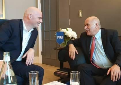 الرجوب يطالب إنفانتينو بضرورة حماية الرياضة والرياضيين الفلسطينيين