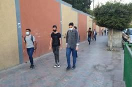 شاهد الصور : تدريب يحاكي عودة الطلبة لمدارسهم في غزة