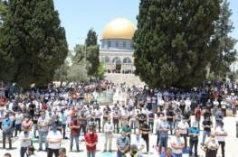 30 ألف مصل يؤدون صلاة الجمعة في رحاب المسجد الأقصى