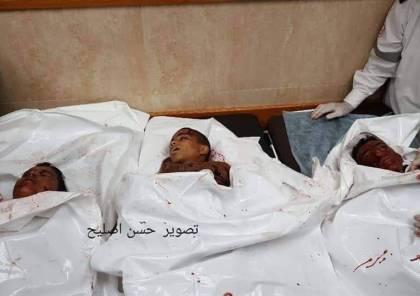 صور ..استشهاد 3 اطفال في قصف طائرة اسرائيلية شمال خانيونس جنوب قطاع غزة