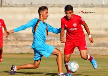 فوز ودي لناشئي غزة الرياضي على الجزيرة