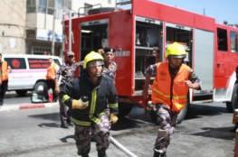 اخماد حريق في عرانة