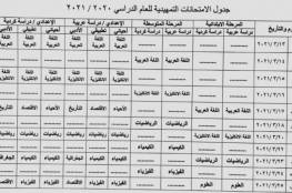 العراق .. جدول الامتحانات التمهيدية 2021 السادس الابتدائي والإعدادي والثالث المتوسط