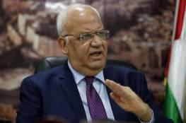عريقات: خياران أمام الحكومة الإسرائيلية المقبلة.. وتنفيذ الضم يهدد السلام والاستقرار بالمنطقة