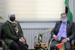 """رضوان لـ """"محافظ رام الله"""": حريصون على مواصلة سياسة الشراكة المهنية والانفتاح لتعزيز النزاهة"""
