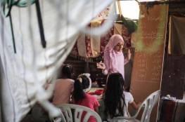"""غزة: أطفال يواظبون على الدراسة رغم إغلاق مدارسهم بسبب مرض """"كوفيد-19"""""""