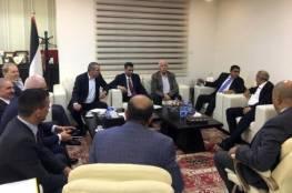 وفد حركة فتح يستقبل الوفد الأمني المصري في مدينة رام الله
