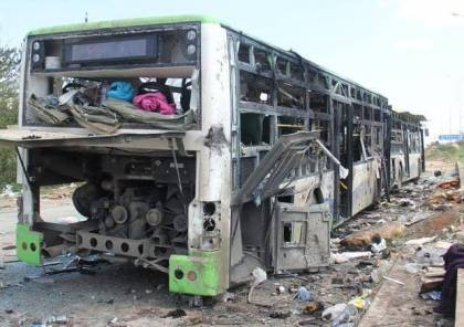 المرصد السوري: ارتفاع عدد قتلى الجيش السوري إلى 37 في تفجير حافلة