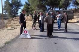 اعتصام في بلدة يعبد تنديدا بتدمير الاحتلال شارع ضاحية امريحة