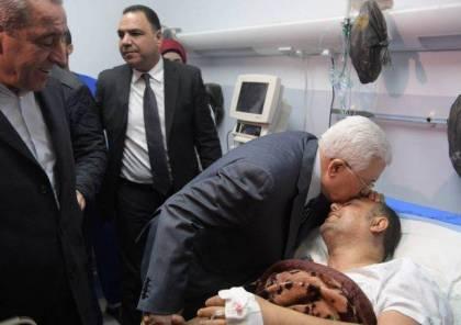 صور: الرئيس يعود القيادي أبو سيف ويطمئن على صحته ويوجه التحية لاهالي غزة