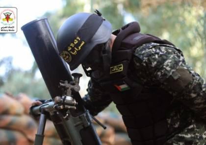سرايا القدس تعلن قصف قوات الاحتلال في غلاف غزة