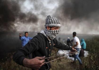 122 اصابة بمسيرات العودة شرق قطاع غزة