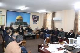وفد من وزارة التنمية الاجتماعية في رام الله يجتمع بالموظفين في غزة